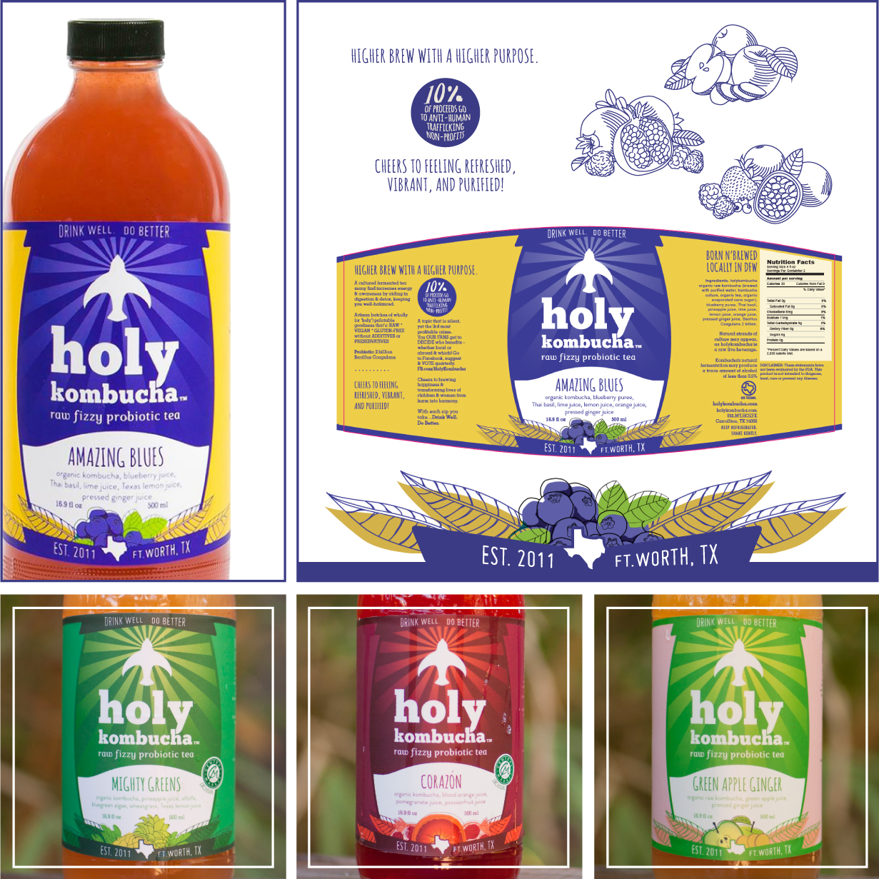 Holy Kombucha | Branding & Product Label Design by Square 205